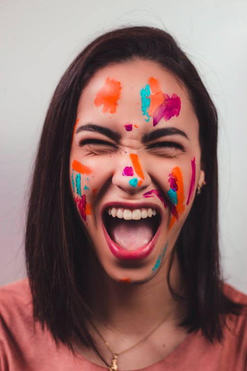 Woman With Face Paint on Face