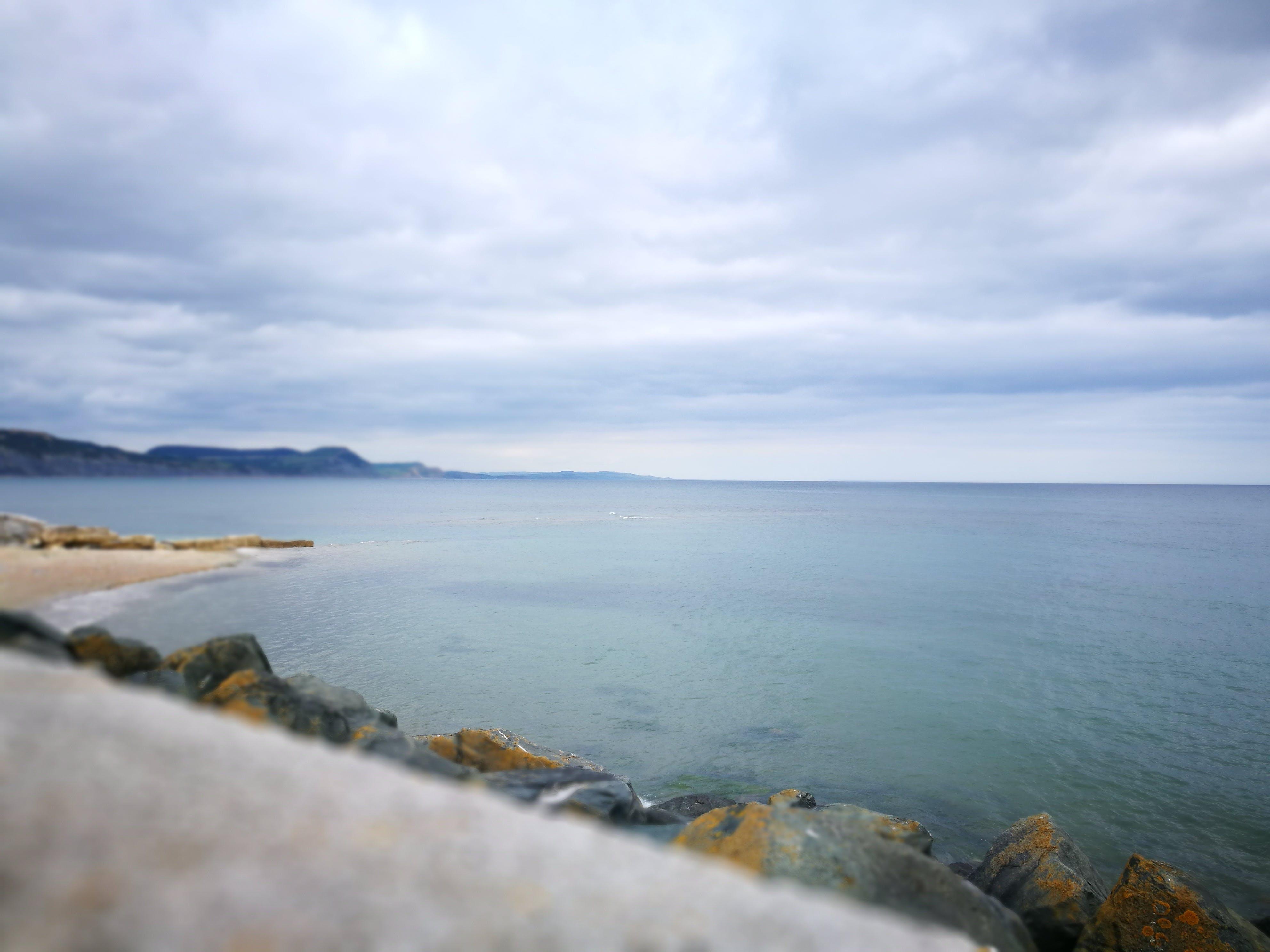 Gratis lagerfoto af hav, kystbane, sky, sten