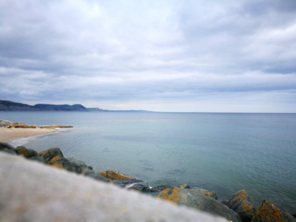 kameny, moře, mrak