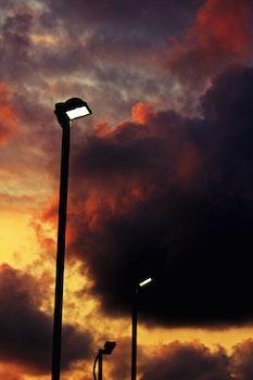 Black Post Lights