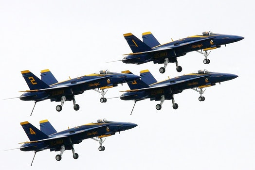 Blue and Yellow Jets