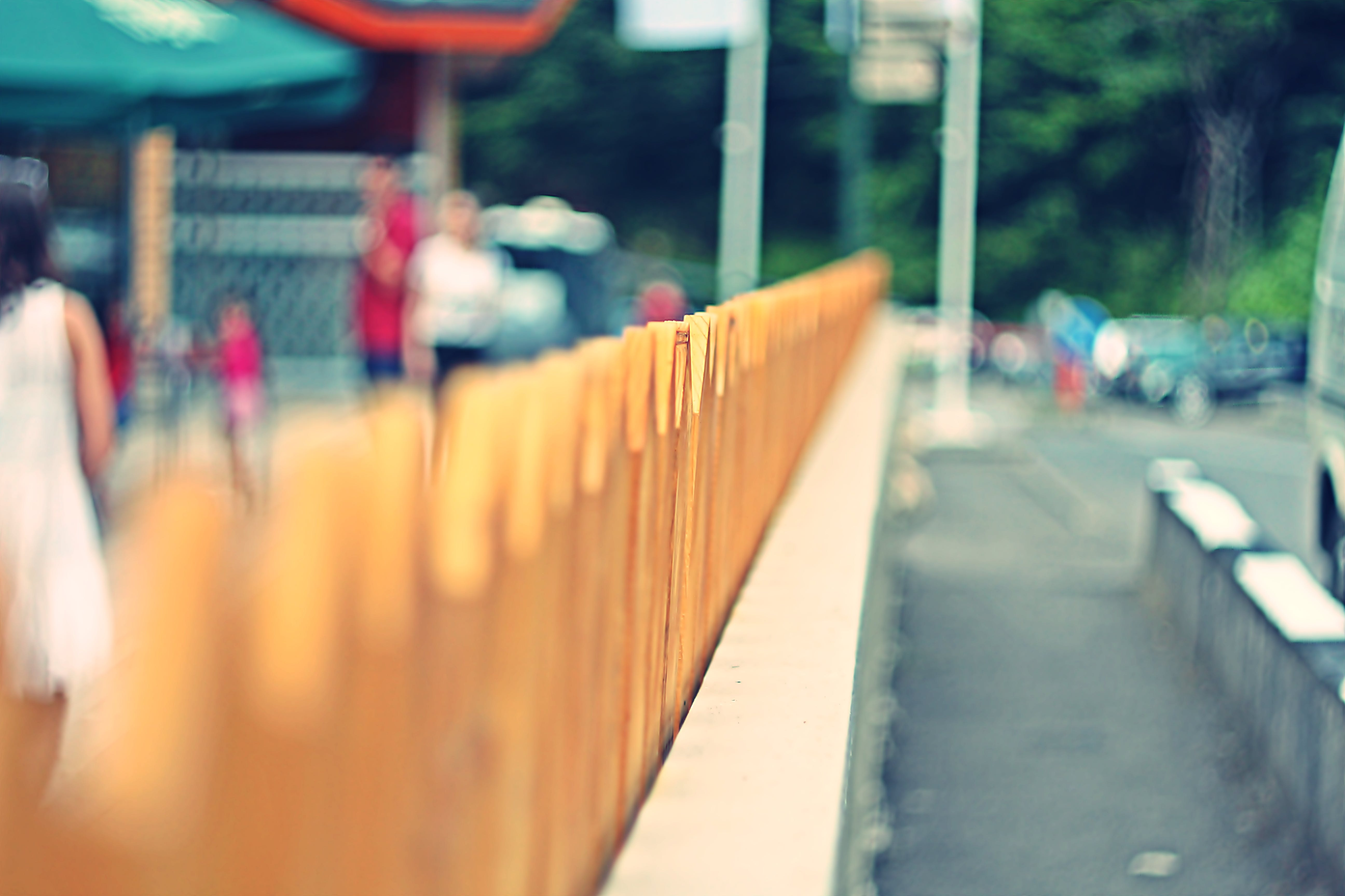 Selective Focus Photo of Fence
