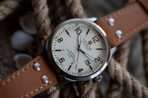 Brown Leather Strap Analog Watch