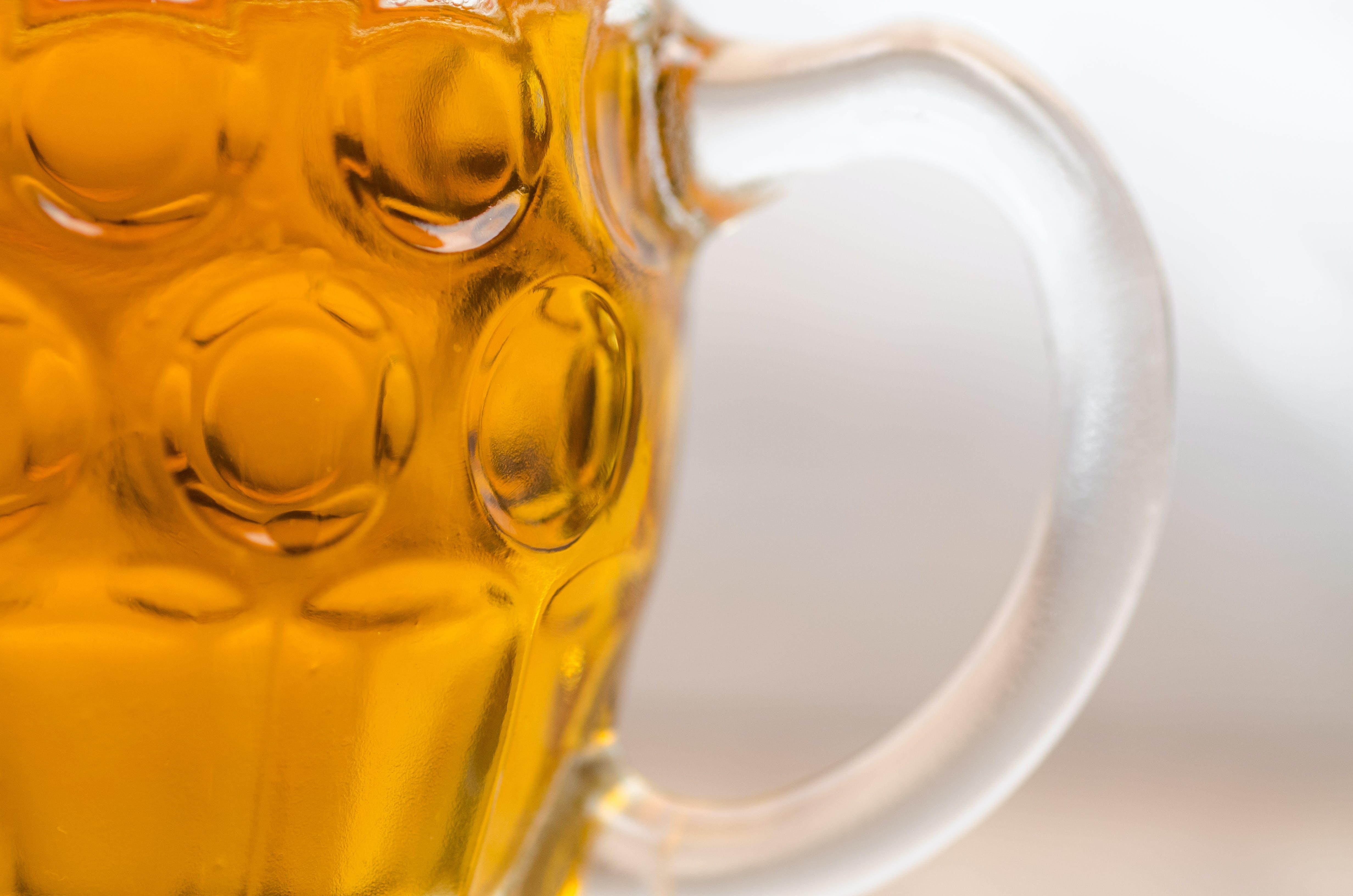 Closeup Photo of Clear Glass Mug