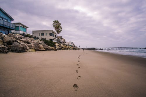 Free stock photo of beach, beach home, beach house, clouds