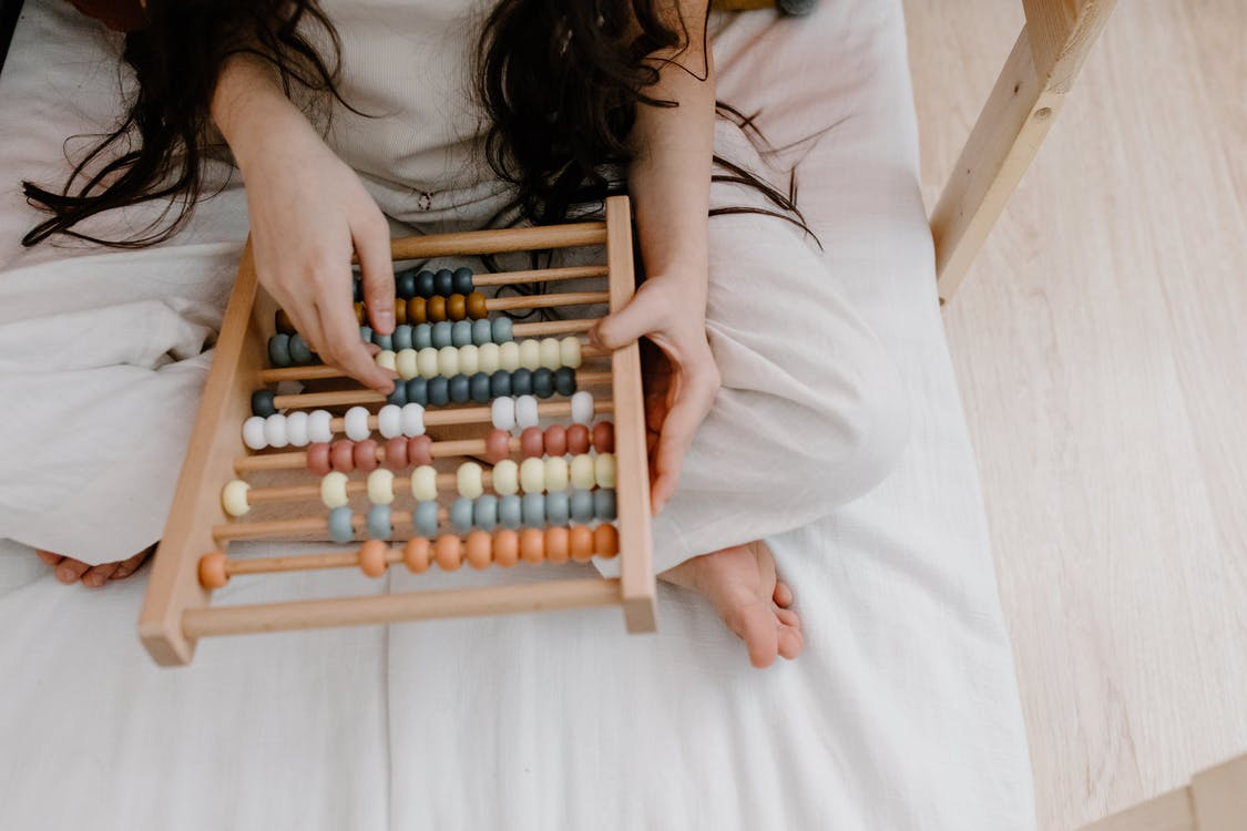 Free stock photo of abacus, book, child