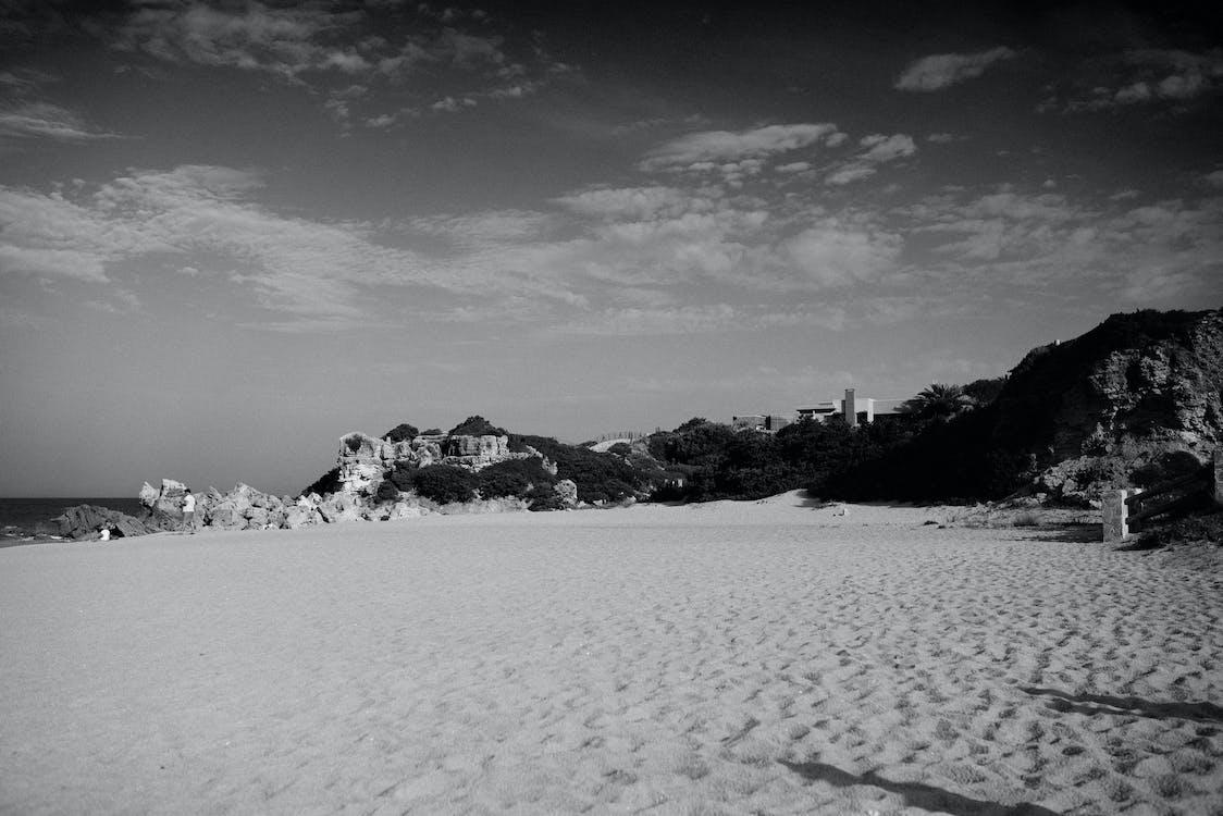 Free stock photo of beach, black, blackandwhite