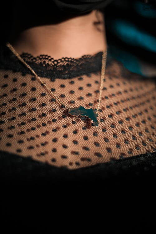 Silver Necklace With Green Butterfly Pendant