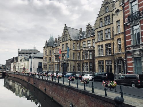 Free stock photo of across water, belgium, big city