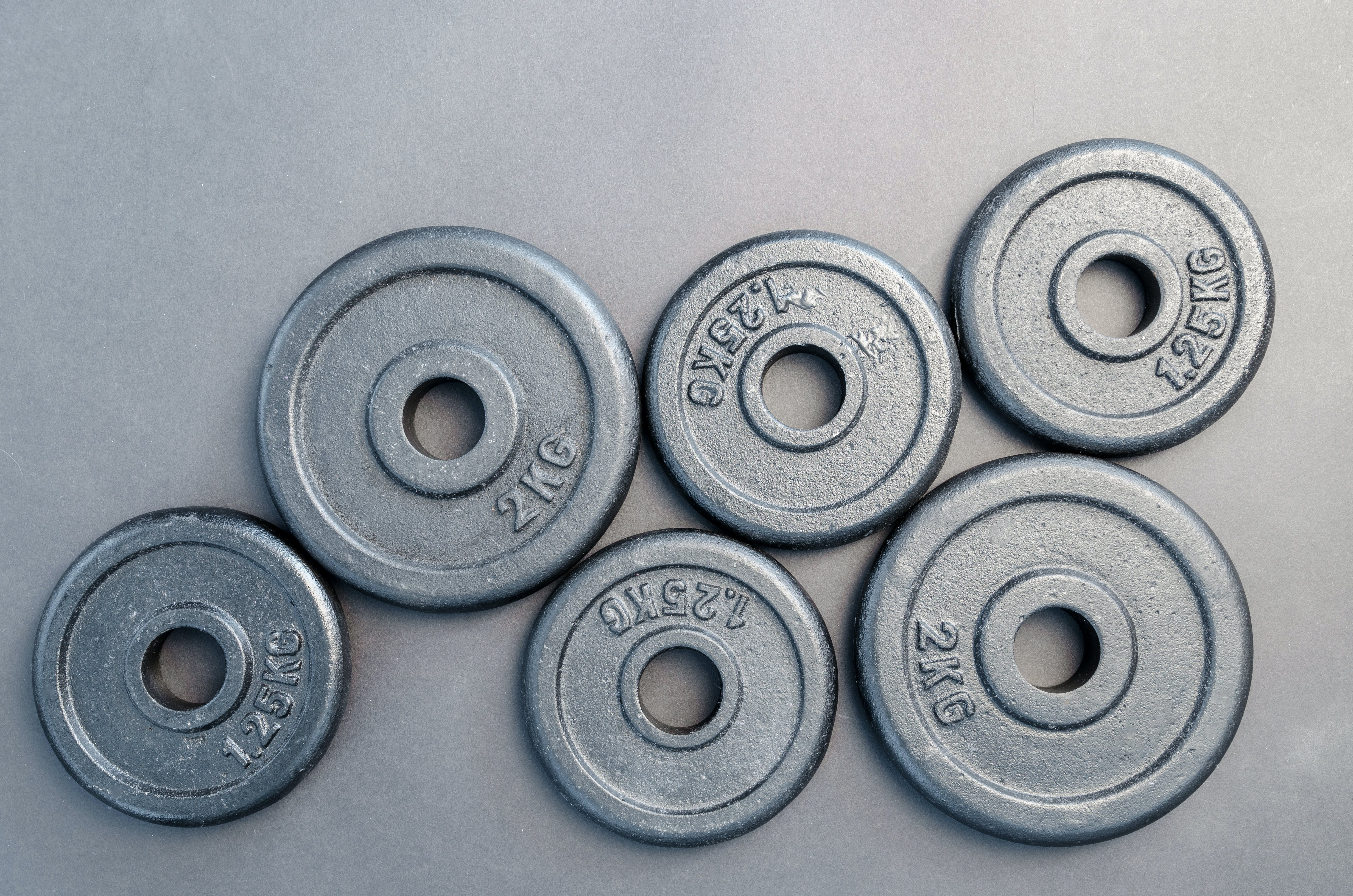 Six Assorted Weight Plates