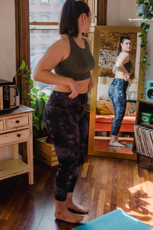 Woman Doing Body Check