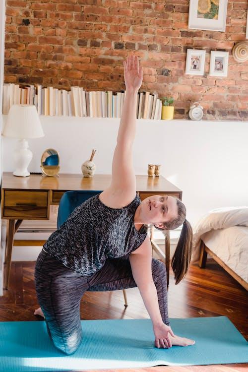 Woman Doing Online Yoga Class