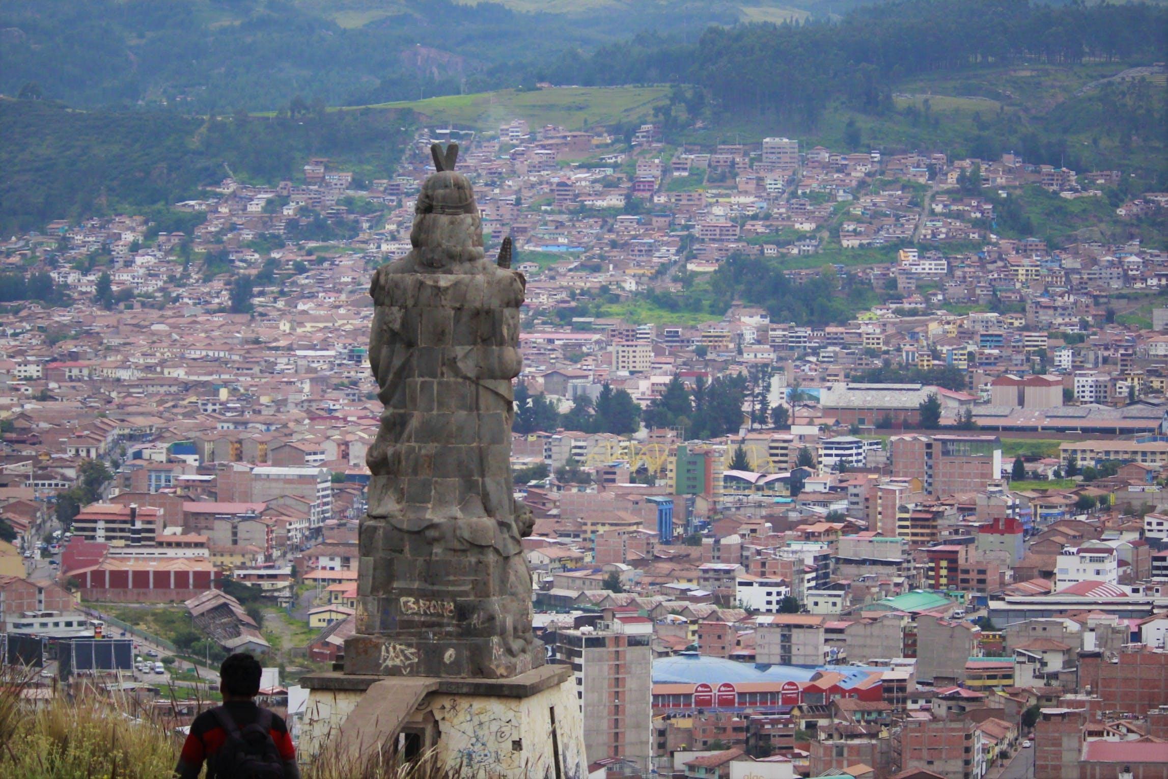 Free stock photo of aereo, city, cusco, inca