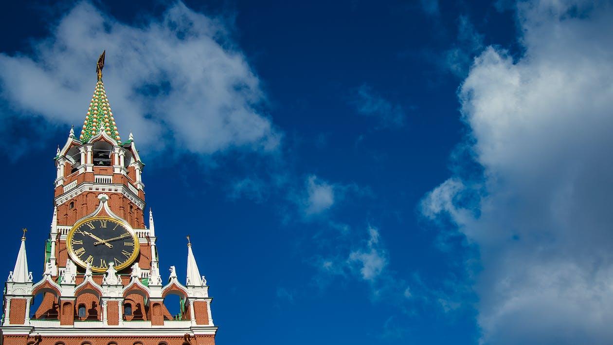 the spasskaya tower, กรุงมอสโก, ท้องฟ้า