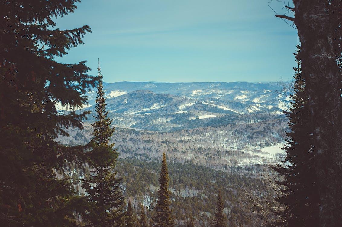 bjerge, himmel, natur