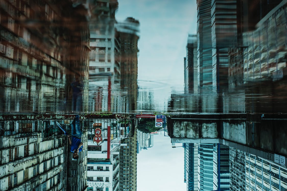 Reflection of Buildings Photography