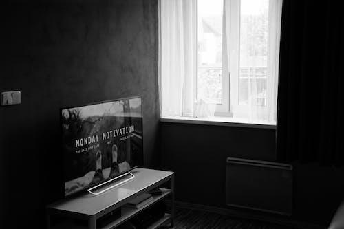 Immagine gratuita di appartamento, architettura, bianco e nero, camera