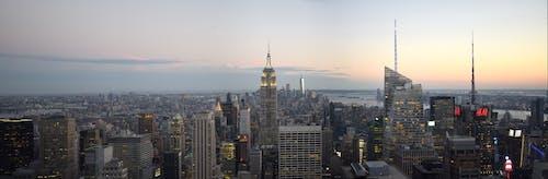 Photos gratuites de #empirestate, #le coucher du soleil, #new york, #panorama