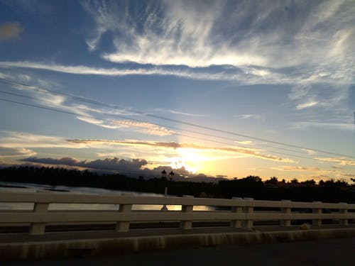 Free stock photo of bridge, sunset