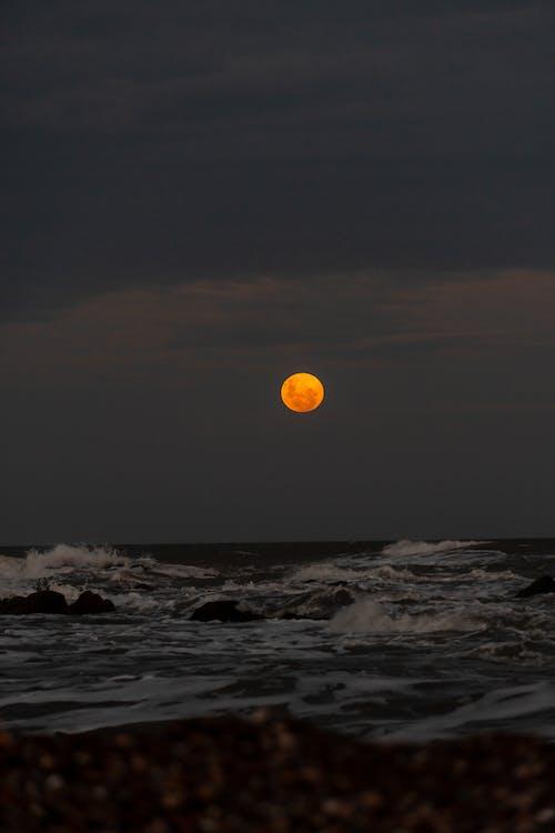 Yellow Sun over the Sea