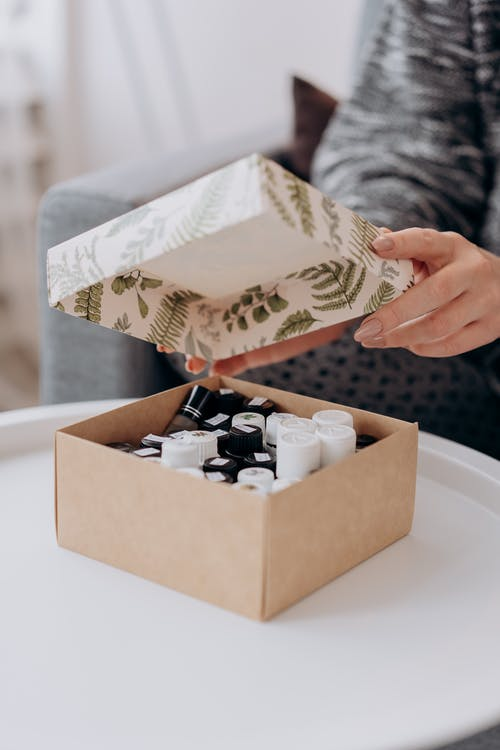 Box Of Essential OIls On Table