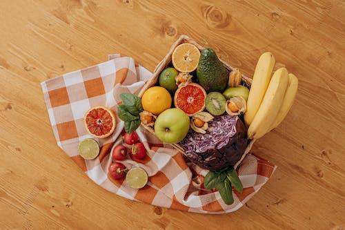Assorted Fruits on Brown Wooden Basket