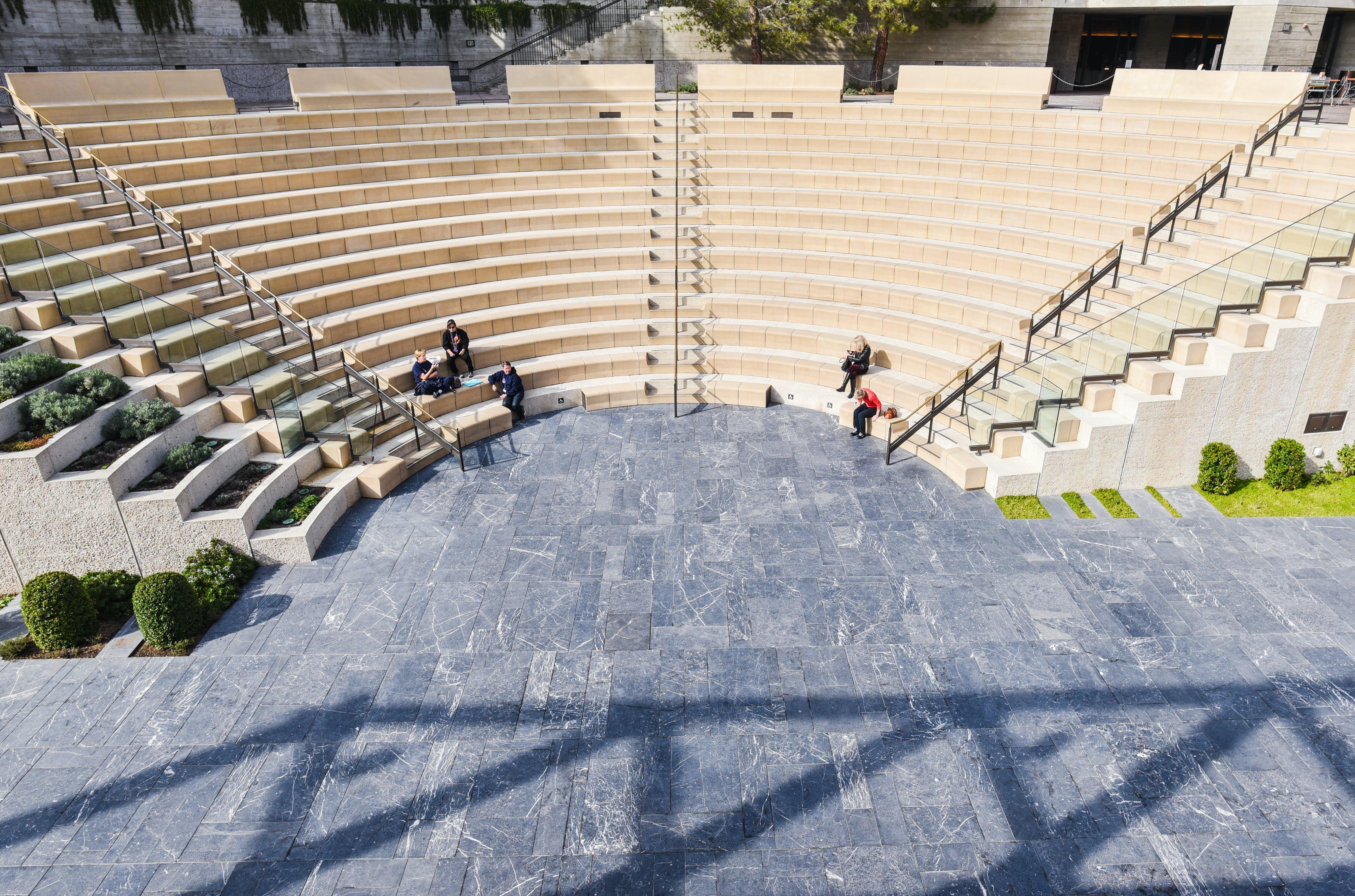 White Concrete Steps