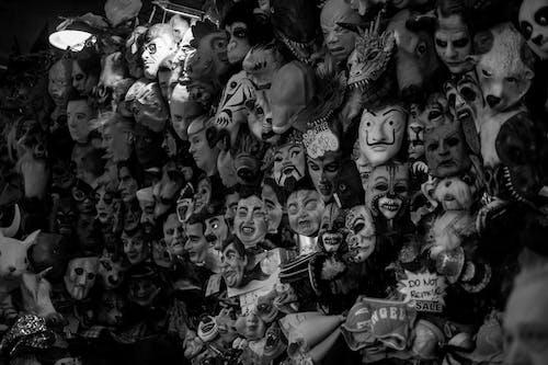 Fotos de stock gratuitas de antifaces, blanco y negro, de miedo