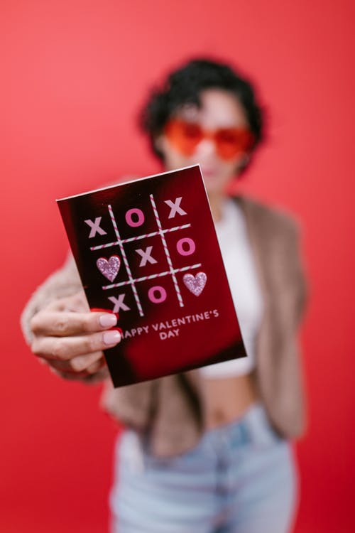 Close-Up View of a Valentines Card