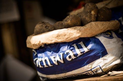Fotos de stock gratuitas de Cornualles, Fresco, patatas, saco