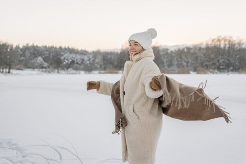 A Woman Wearing Winter Clothes