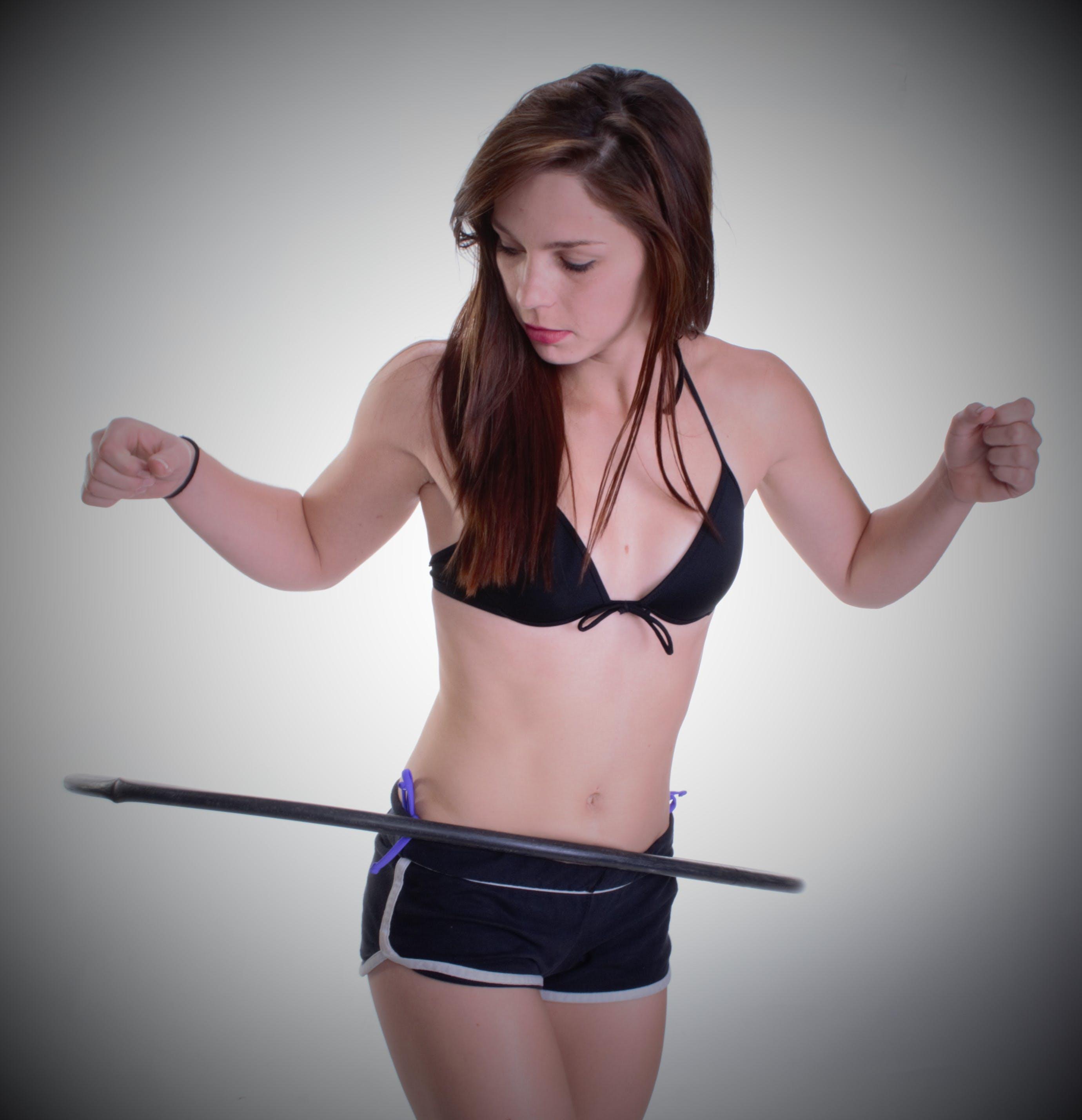 Woman Playing Hula Hoop