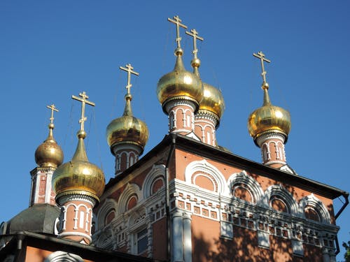 Ilmainen kuvapankkikuva tunnisteilla kirkko, kristinusko, kultainen kupoli, kultaiset kupolit