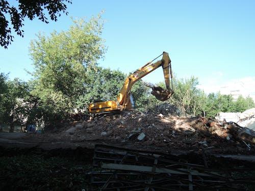 Ilmainen kuvapankkikuva tunnisteilla kaivinkone, rakennustyömaa, työ