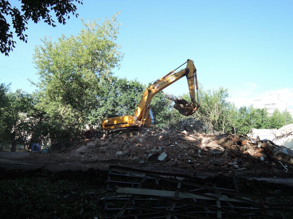 Free stock photo of building site, excavator, work