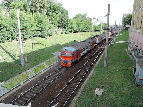 Ilmainen kuvapankkikuva tunnisteilla harjoitella, junanrata, sähköjuna