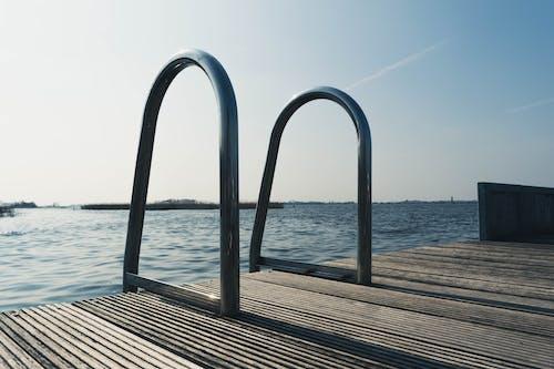 Photos gratuites de acier inoxydable, bord de mer, eau, eau bleue