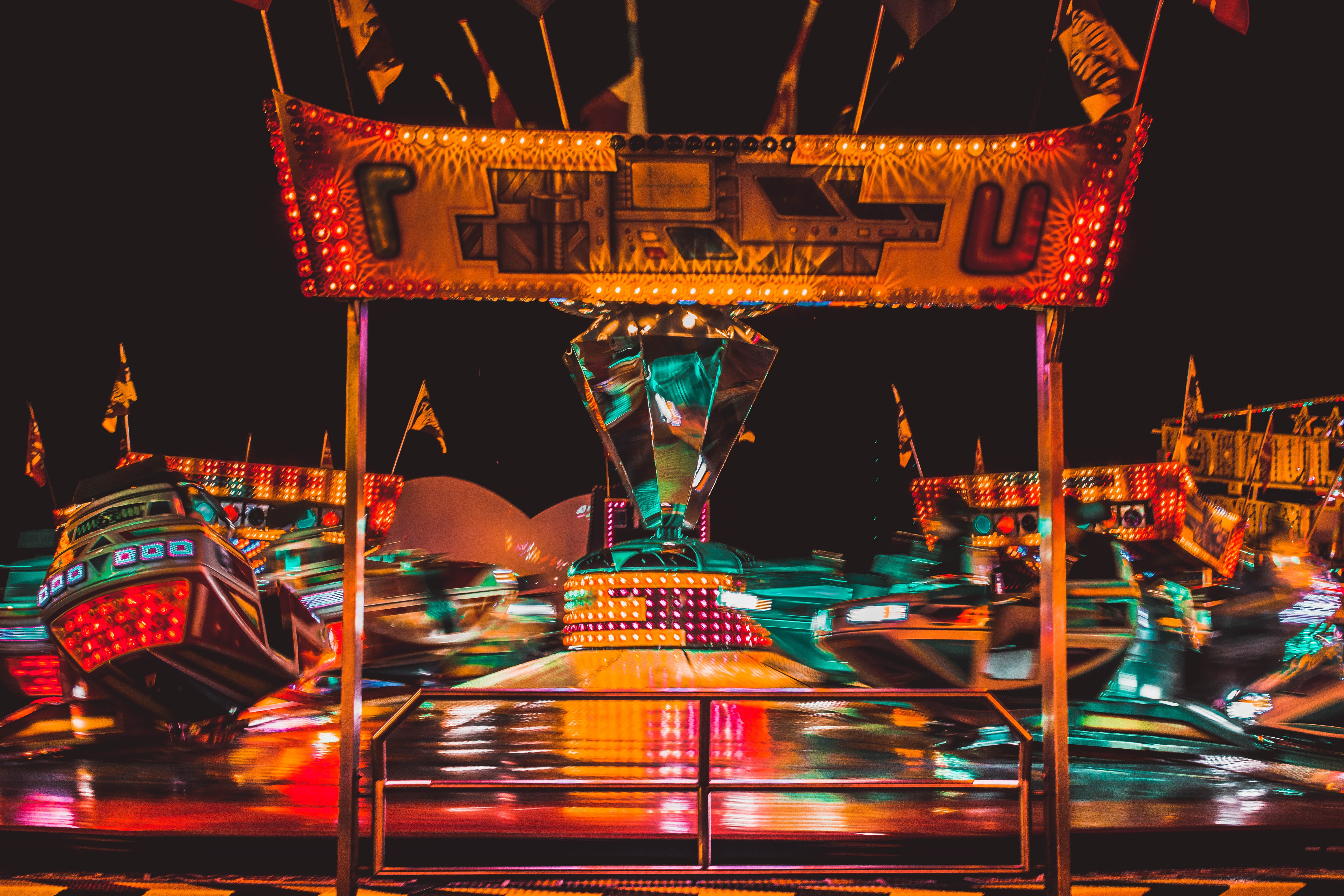Panning Photography of Carousel