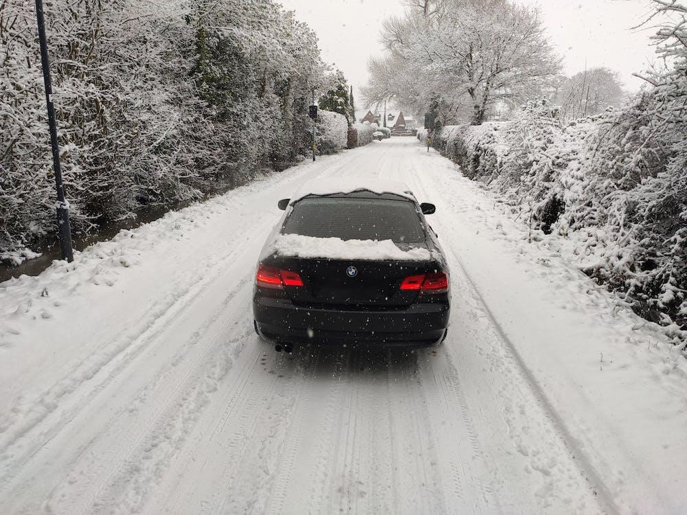 Photos gratuites de arrière-plan, beaucoup de neige, BMW