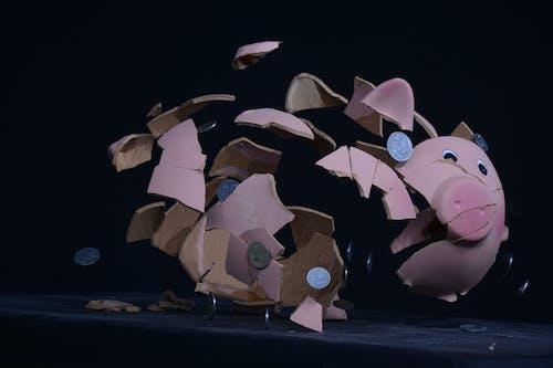 Shattered Pink Piggy Bank