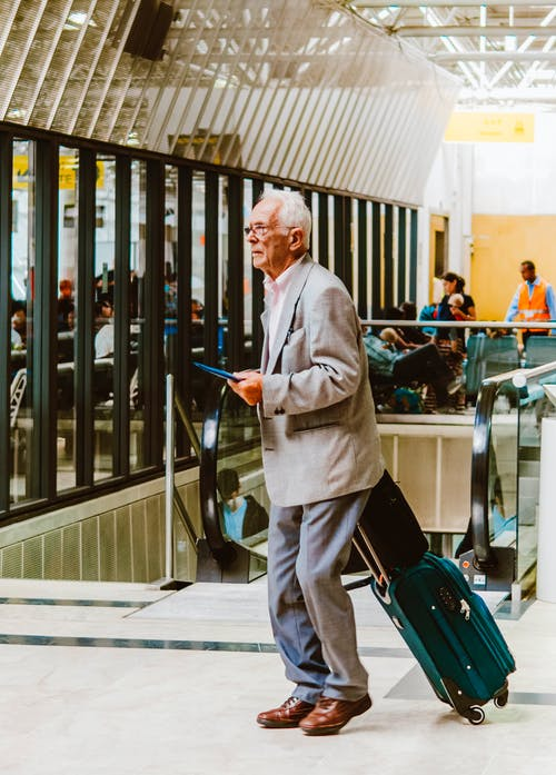 Free stock photo of adult, airport, briefcase