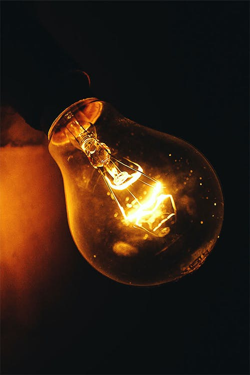 Close-up Photography of Lighted Light Bulb