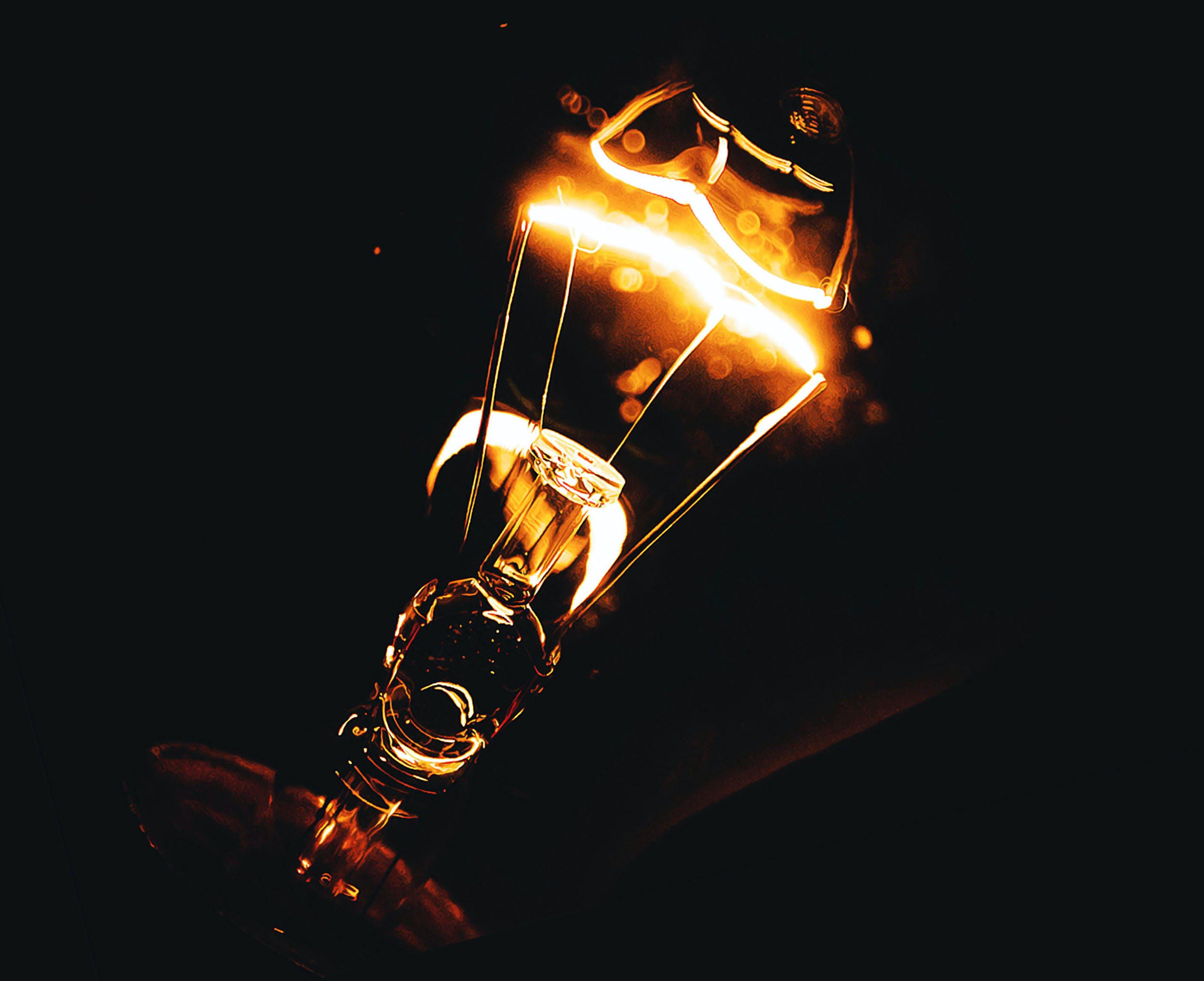ánh sáng, bóng đèn, cận cảnh