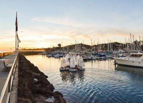 Free stock photo of jetty, sunset, port, harbor
