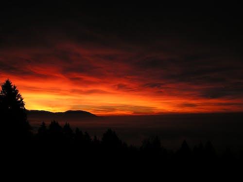 夜明け, 山, 日の出, 日没の無料の写真素材