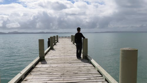 Free stock photo of boy, by the sea, mother nature, wharf