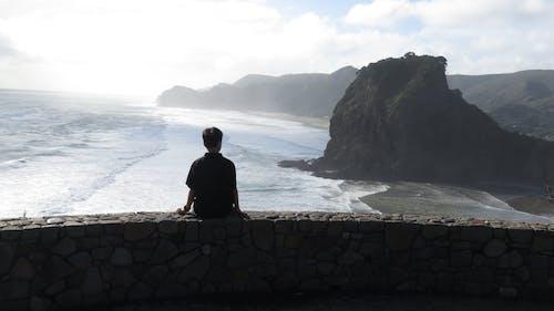 dağ, dalga, dalgalar, deniz içeren Ücretsiz stok fotoğraf
