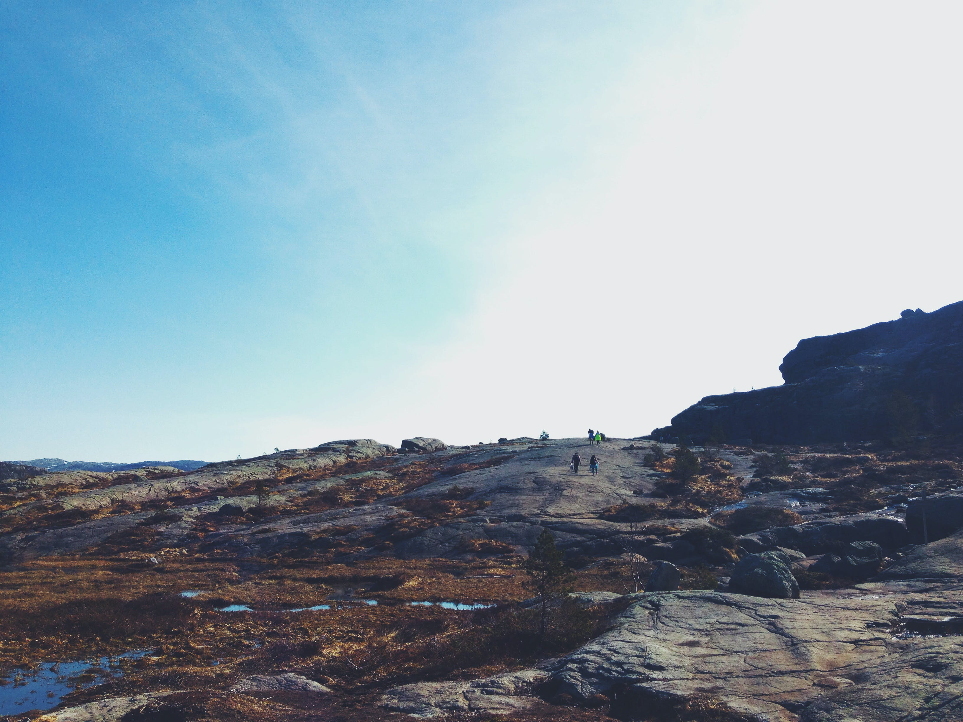 Free stock photo of sky, people, blue, rocks