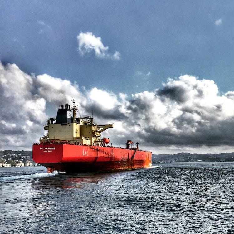 agua, barco, barco de carga