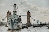 Ship Sailing on Tower Bridge